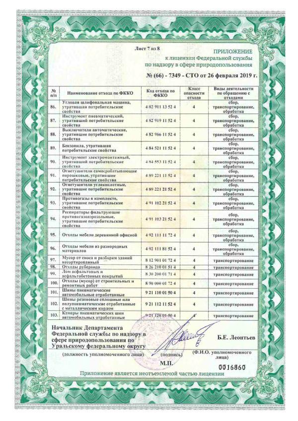 Лицензия на осуществление деятельности по сбору, транспортированию, обработке, утилизации, обезвреживанию, размещению отходов 1-4 классов опасности