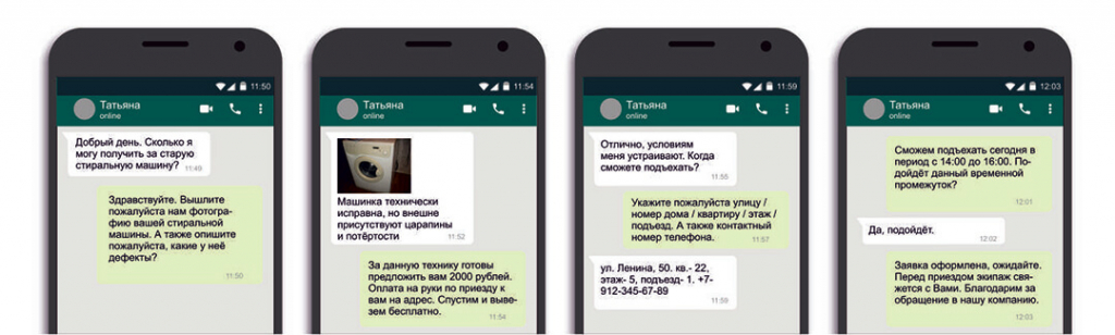 Скупка стиральных машин по фото в WhatsApp
